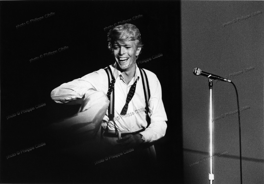 "David Bowie, Paris 1984, ""lets dance"""